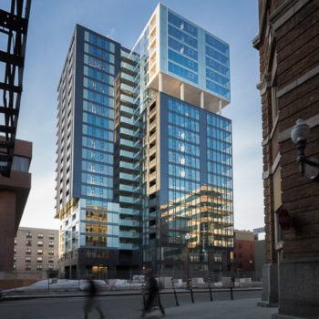 """Fresk Tower"" Complexe Jacques Cartier"