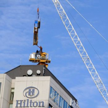 Hilton Hotel – Tower Crane Erection